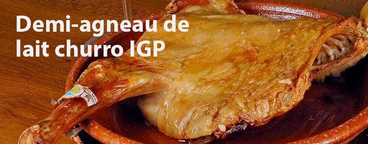 Demi-agneau lait churro IGP