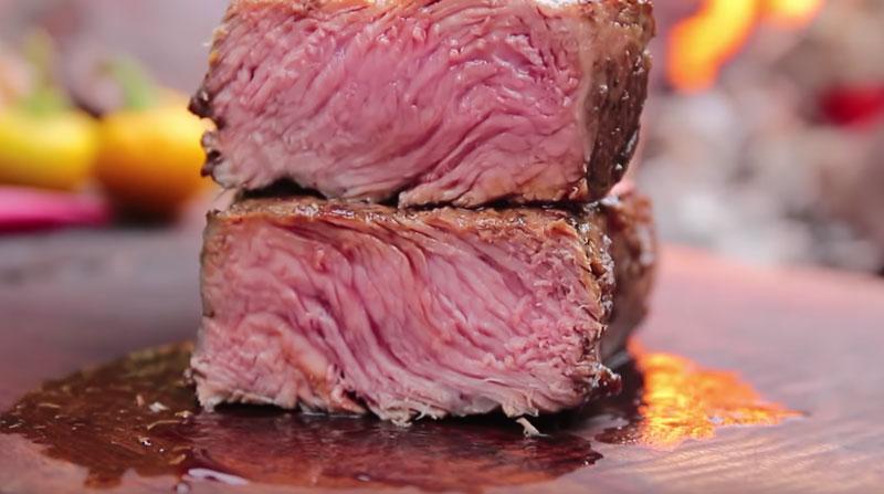preparar carne a la piedra